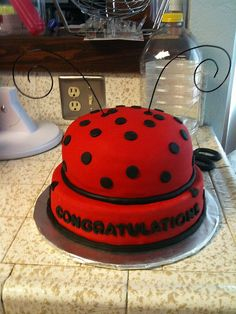 Ladybug Cake Aug 2009 by Mandy's Crafty Creations, via Flickr