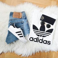 3764ccbda54a Pinterest↠  biiamota ♡ Adidas Fashion, Fashion Jeans, Fashion Outfits,  Womens Fashion