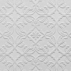 Could paint silver for faux tin ceiling. Maxwell (RD0671) - Anaglypta Wallpapers - A luxury textured blown vinyl wallcovering on a peelable, flat backed paper. A classic tile effect design. This wallpaper is white and is designed to be painted a colour of your choice. Please request sample for true texture match.