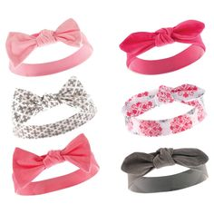 Yoga Sprout Baby Girls' 6 Pack Headbands - Berry, Infant Girl's