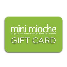 Gift Card - mini mioche - organic infant clothing and kids clothes - made in Canada