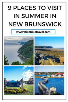 9 places to visit in New Brunswick in summer - covering the whole province. With thousands of km of coastline, beautiful beaches, part of the chain if the Appalachian Mountains & 2 national parks there's plenty of choice East Coast Travel, East Coast Road Trip, East Coast Canada, Best Weekend Trips, New Brunswick Canada, Canada Destinations, Canadian Travel, National Parks Usa, Appalachian Mountains