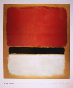 Chadwick Bell Fall 2012 Inspiration: Mark Rothko, Untitled (Red Black White on Yellow) 1955