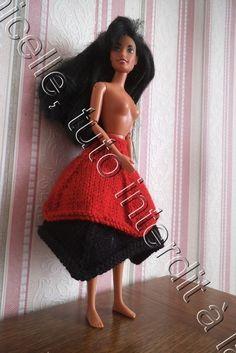 tuto gratuit barbie : jupe doubles pointes