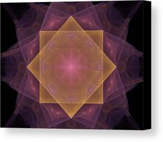 Rose Of Wind Canvas Print by Marina Usmanskaya.  All canvas prints are professionally printed, assembled, and shipped within 3 - 4 business days and delivered ready-to-hang on your wall. Choose from multiple print sizes, border colors, and canvas materials MarinaUsmanskayaFineArtDigitalArt, ArtForHome, FineArtPrints, RoseOfWind, Fractal, Abstract