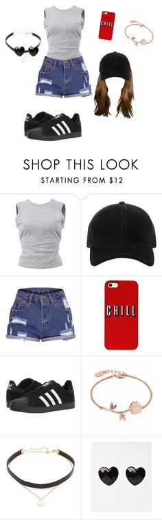 """Untitled #289"" by michelykamely ❤ liked on Polyvore featuring T By Alexander Wang, rag & bone, adidas and Jennifer Zeuner"