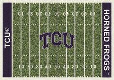 College Home Field NCAA Texas Christian Novelty Rug