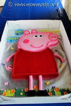 Peppa Pig birthday party cake