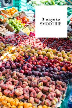 3 amazing healthy smoothies with fruits, Parsley, young barley, oatmeal