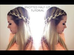 Knotted Half Up Tutorial