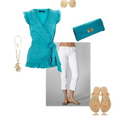 cute...I have white jeans that would work with the rest of this oufit.