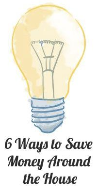Saving money around the house is easy, check out 6 ways to do it now.  #money #budget