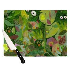 "Marianna Tankelevich ""Jungle"" Cutting Board - Outlet Item - KESS InHouse"