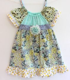 Fall Floral Garden Dress toddler dress girls by LemonDoozyLane