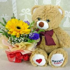 52 Best Flowers Bears Images Bears Teddybear Bear
