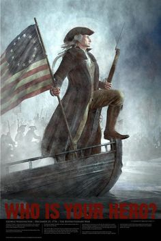 by artist Steve Nethercott--George Washington crossing the Delaware--Americana