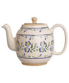 Nicholas Mosse, Blue Forget Me Not Teapot, £99.00. #libertyhome #teapot #nicholasmosse