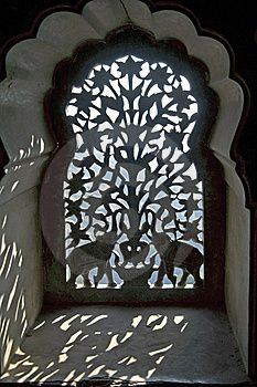 Ornate window screen, India