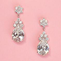 Angel Drop Earrings - Kate Ketzal - Beautiful Wedding Jewelry & Adornments