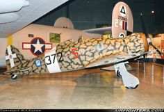Italian Macchi MC-200 Saetta WWII fighter, MM8146 / 372-5. On display at National Museum of the US Air Force in Dayton, OH. April 12, 2013.