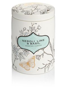 Neroli, Lime & Basil Ceramic Scented Candle | M&S