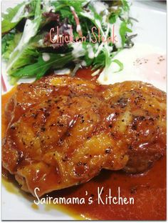 Chicken with ketchup and oyster sauce ★めちゃうま♡チキンステーキ★