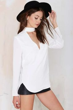 Cameo Collective Say it Right Cutout Top - Shirts + Blouses | Cameo