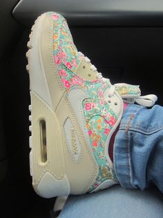 Floral Nike Air Maxes...these would look dope on a my girl...