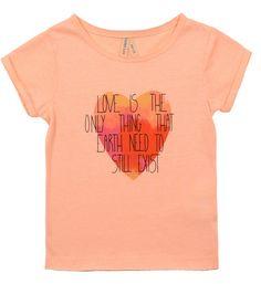 Tee-shirt Orange clair ♥ (taille: 14 ans) pour 9,99 euros