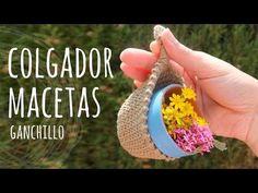 Tutorial Colgador Macetas o Macetero Ganchillo | Crochet - Lanas y Ovillos - YouTube Crochet Motif, Easy Crochet, Crochet Flowers, Free Crochet, Crochet Patterns, Tutorial Crochet, How Do You Knit, Crab Stitch, Crochet Classes