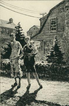 Martin Lewis.  Sunday Garden Inspection. 1927.