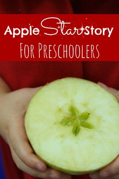 Apple Unit-Apple Star Story for Preschoolers Preschool Apple Theme, Fall Preschool, Preschool Curriculum, Preschool Lessons, Preschool Classroom, Preschool Learning, Preschool Activities, Preschool Apples, Kindergarten Apples