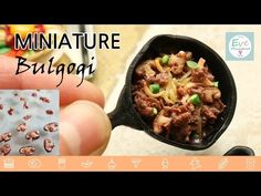 미니어쳐 불고기 만들기 (콜라보 with Nerdecrafter) miniature Korean food Bulgogi. Nerdecrafter Molang - YouTube