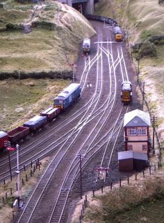 Track Layout Ideas for Your Model Train N Scale Model Trains, Model Train Layouts, Scale Models, Ho Scale Train Layout, Escala Ho, Model Railway Track Plans, Garden Railroad, Ho Trains, Train Tracks
