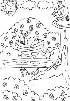Las 13 Mejores Imágenes De Dibujos De Primavera Para Colorear Y