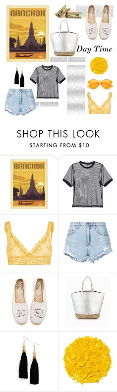 """""""Bangkok: Day Time"""" by yosifova ❤ liked on Polyvore featuring 3x1, Hanky Panky, Nobody Denim, Soludos, Ink + Alloy, Illamasqua, casual, contest, outfit and travel"""