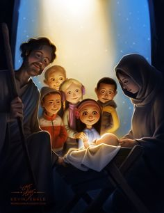 And he shall be called Jesus Christ the Son of God. The Book of Mormon - Mosiah Catholic Art, Religious Art, Advent, Image Jesus, True Meaning Of Christmas, Happy Birthday Jesus, O Holy Night, Holy Family, Christmas Nativity