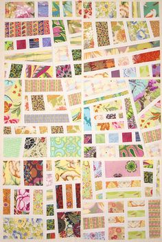 Awesome! I see possibilities for scrapbooking paper scraps and a paper quilt. I believe this is fabric though.