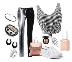 """""""Black and White"""" by caity3726 ❤ liked on Polyvore featuring Steve Madden, Essie, MAC Cosmetics, NARS Cosmetics and Bling Jewelry"""