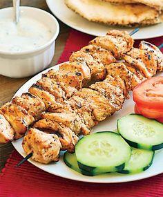 Λιβανεζικο κοτοπουλο σουβλακι