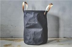 "229,- Trend Design Kurv ""Flasker"" Sort 35xH54cm (298-459812) Design Trends, Reusable Tote Bags, Organization, House Styles, Home Decor, Getting Organized, Organisation, Decoration Home, Room Decor"