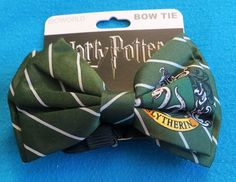 HARRY POTTER SLYTHERIN BOW TIE NEW GREEN