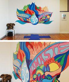 yoga studio murals - Google Search