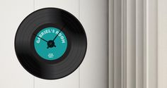 f you are looking to add that vintage feel to your decor, this is the perfect wall accent for you: the custom vinyl 45 removable wall clock. The design of a vinyl record is the base for this perfect combo between an wall sticker and a silent black clock mechanism. There are 3 different sizes to choose from and you can customize the text to say whatever you wish. Starts at $58.