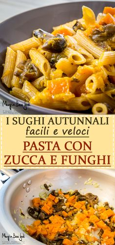 Una pasta autunnale semplice e veloce. Pasta, Fusilli, Macaroni And Cheese, Cooking, Ethnic Recipes, Food, Kitchen, Mac And Cheese, Eten