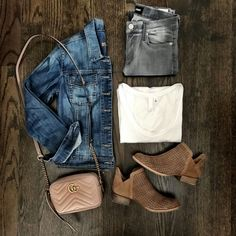 How To Wear Denim Jacket Winter Jean Outfits Ideas Grey Skinny Jeans Outfit, Grey Jeans Outfit, Jeans Outfit Winter, Fall Winter Outfits, Outfits With Gray Jeans, Shirt Outfit, Spring Outfits, Black Jeans, How To Wear Denim Jacket