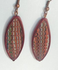 Items similar to Brown Multicolored Dangle Earrings Handmade from Polymer Clay Modern Jewelry Drop Earrings Wearable Art Abstract Jewelry on Etsy Dangle Earrings, Pendant Necklace, Earrings Handmade, Dangles, Trending Outfits, Brown, Unique Jewelry, Handmade Gifts, Etsy