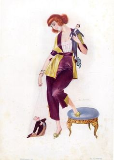 1923 Pajamas Fashion Illustration Source:  EROS Illustrator:  Léo Fontan