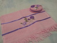 Decopage em toalha e sabonete