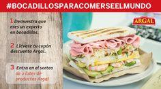 Participa y gana lotes de productos Argal. #bocadillosparacomerseelmundo.